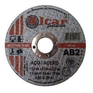 DISCO DE CORTE AB-2 ( 2 TELAS ) 115MM ( 4 1/2″ ) ALCAR