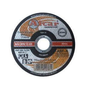 DISCO DE CORTE FINO ABF-4 ( 2 TELAS ) 115MM ( 4 1/2″ ) ALCAR