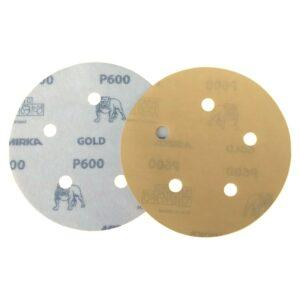 DISCO C/ VELCRO GOLD 125MM- 5″ MIRKA