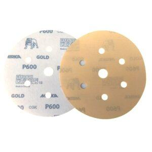 DISCO C/ VELCRO GOLD 150MM- 6″ MIRKA