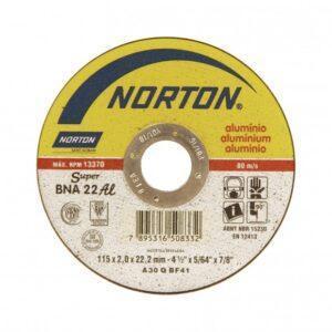 DISCO DE CORTE BNA22 ALUMÍNIO 115MM ( 4 1/2″ ) NORTON